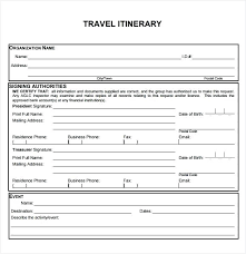Event Itinerary Template New Free Downloadable Travel Itinerary Template More From Business Blank