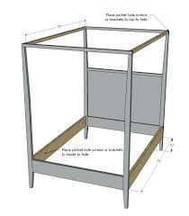 Canopy Full Size Bed Simple Build A Canopy Bed Full Size Full Size ...