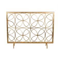 antique fireplace screen. dessau home antique gold circles fireplace screen e