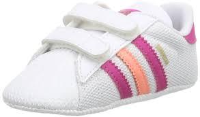 adidas shoes for girls superstar pink. adidas originals unisex babies\u0027 superstar crib walking baby shoes white size: 2.5 child uk: amazon.co.uk: \u0026 bags for girls pink 6