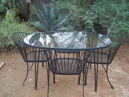 Woodard Pinecrest Wrought Iron Patio Table & 4 Chairs VGC