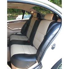 clearance custom fit neoprene seat covers rear beige w center armrest not for split folding