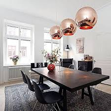 1pcs 15cm glass mirror ball ceiling pendant light modern tom dixon lamp chandelier