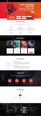 Film Template For Photos Responsive Movie Landing Page Template For Cinema Tv And Film