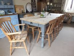 Pine Farmhouse Kitchen Table Large 8ft Shabby Chic Vintage Country Pine Table And 10 Farmhouse
