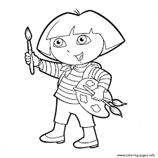 Small Picture dora paint Coloring pages Printable
