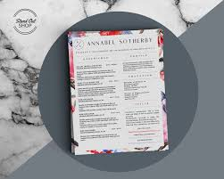 Annabel Sotherby Beautiful Resume Template - Stand Out Shop
