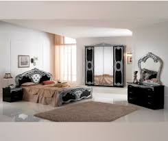 italian bed set furniture. Ben Company Cristina Black And Silver Finish Italian Bed Group Set With 4 Door Wardrobe Furniture