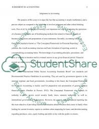 judgement in accounting essay example topics and well written judgement in accounting essay example