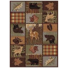 nature lodge patchwork rugs