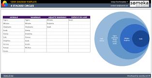 Venn Diagram In Excel Based On Data Venn Diagram Template
