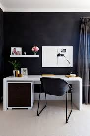home office home workspace. Office: Small Home Workspace With A Dark Backdrop And Sleek Desk In White Office