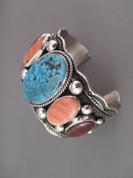 turquoise spiny oyster s cuff bracelet with ithaca peak turquoise by navajo jewelry artist