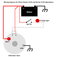 my modified version of the above diagram chevy alternator wiring Basic Alternator Wiring Diagram wiring diagram for delco alternator the delco 10 si and 12 si alternators one wire alternator basic wiring diagram for alternator