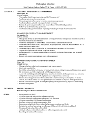 Business Administration Resume Samples Contract Administration Resume Samples Velvet Jobs 45