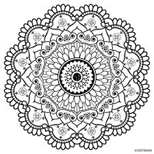 Fotografie Obraz Mehndi Indian Henna Floral Element Mandala For