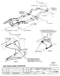 Rear spring hanger sheet 14 00