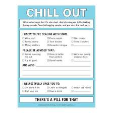 Cool Memos Chill Out Nifty Notes