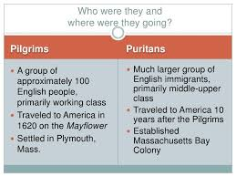 Jamestown And Plymouth Comparison Chart Pilgrims Vs Puritans Venn Diagram Sada Margarethaydon Com