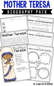 top ideas about mother teresa biography mother mother teresa biography pack women s history