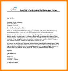 thank you letter scholarship sample scholarship thank you letter formate