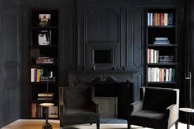Matte Black Room Space Traditional Living Room
