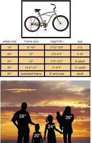Cruiser Bike Size Chart Us Bike Frame Sizes Oceanfur23 Com