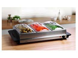 image of stainless steel buffet warming trays