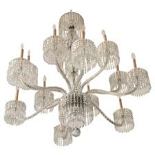 exceptional 19th century baccarat palatial twist rope arm crystal chandelier for
