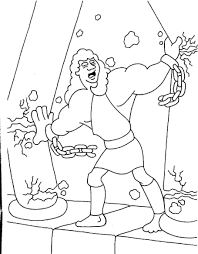 Samson Coloring Pages For Kids
