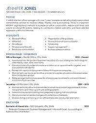 Office Management Resume Example Medical Dental Office