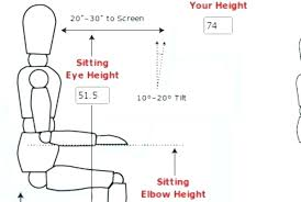 desks height of standard desk ergonomics average typical ergonomic chair calculate ideal heights for your