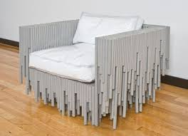unusual furniture. strange furniture unusual material chair2 made with odd and materials