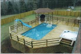 above ground pool with deck attached to house. Free Above Ground Pool Deck Plans Outdoor Amazing Attached To House . With