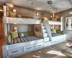 Kids' bedroom - large beach style gender-neutral ceramic floor kids' bedroom  idea
