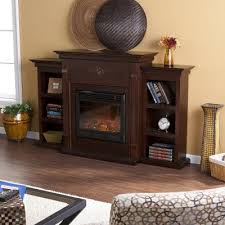 sei tennyson electric fireplace with bookcases