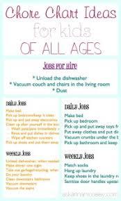 Daily Chore Chart Ideas Chore Chart Ideas For Daily
