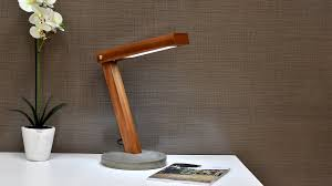 Diy Led Desk Lamp With Concrete Base Homemade Table Top Ideas