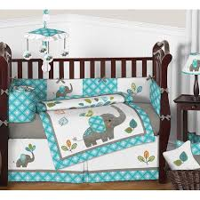sweet jojo designs mod elephant 9 piece crib bedding set reviews pertaining to brilliant residence infant bed sets plan