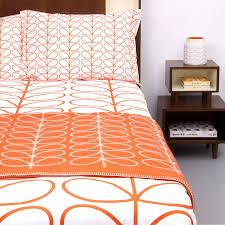 orla kiely orange linear stem kingsize duvet cover