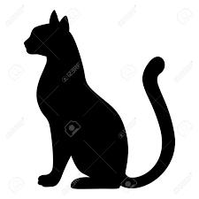 Illustrations Vectorielles De Silhouette Gracieuse Chat Noir