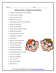 compare and contrast essay prompts compare contrast essay writing compare contrast essay writing promptsclick to print