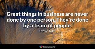 Team Work Quotes 1 Awesome Steve Jobs Quotes BrainyQuote