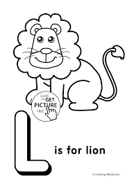 Letteralphabet Coloring Pages For Kids Abc Printables Free L
