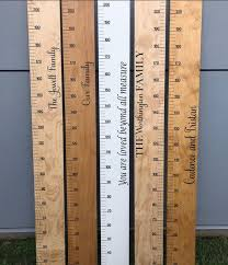 Wooden Height Chart Height Chart Ruler Measurement Growth Chart