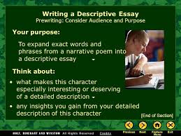 writing workshop writing a descriptive essay assignment prewriting  6 writing