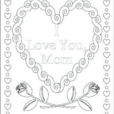 I Love U Mom Coloring Pages I Love You Mom Coloring Page I Love