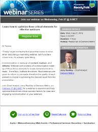 Seminar Invitation Templates Webinar Invite Email Template