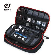 ECOSUSI Portable Digital Accessories Gadget Devices Organizer USB Cable  Charger Tote Case Storage Bag Travel Organizer