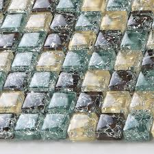 yellow le glass mosaic tiffany blue crystal backsplash brown ice ed bathroom tiles